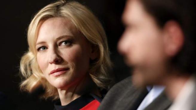 La actriz australiana Cate Blanchett participa en una rueda de prensa con motivo de la presentación de la película 'Cómo Entrenar a tu Dragón 2' en la 67 edición del Festial de Cine de Cannes en Francia.