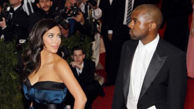 Kanye West y Kim Kardashian, en una imagen de este 2014.