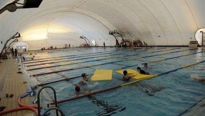 La piscina del Tiro de Línea antes del vendaval.