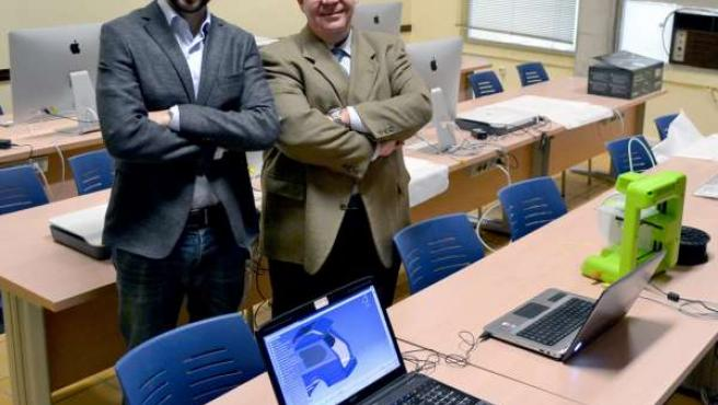 Romero, a la izquierda, junto a Rafael Bienvenido