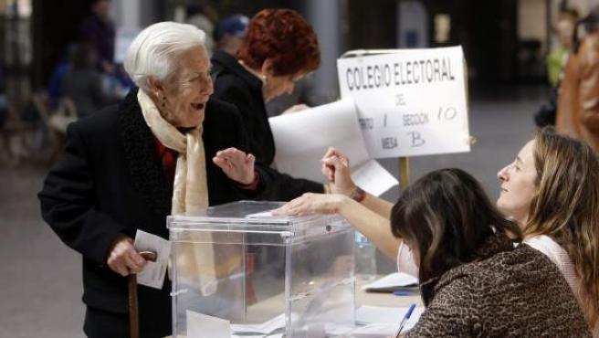 Imagen de archivo de unas elecciones en España.