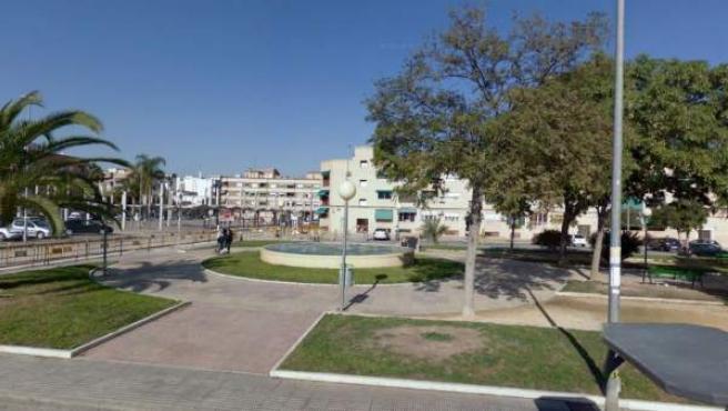 Imagen de una plaza en la pedanía murciana de Puente Tocinos.