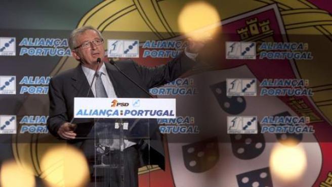El candidato del Partido Popular Europeo (PPE) a la Comisión Europea, Jean-Claude Juncker, en un acto en Portugal por las elecciones europeas.