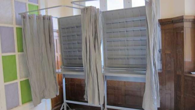 Espacio para colocar las papeletas de las Elecciones.