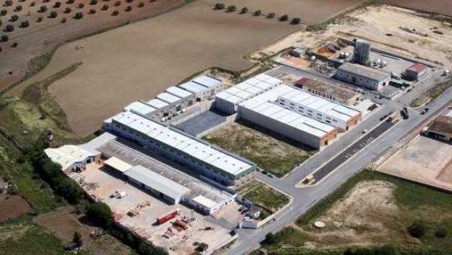 Polígono industrial en la provincia de Huelva.