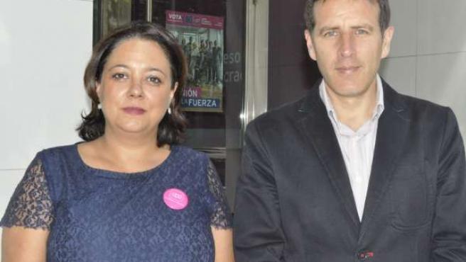 Irene Romea y Carlos Aparicio, candidatos europeos de UPyD.