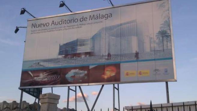 Futuro auditorio de música del puerto de Málaga