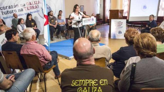 Ana Miranda en campaña eleitoral. Credit Photo Delmi Alvarez