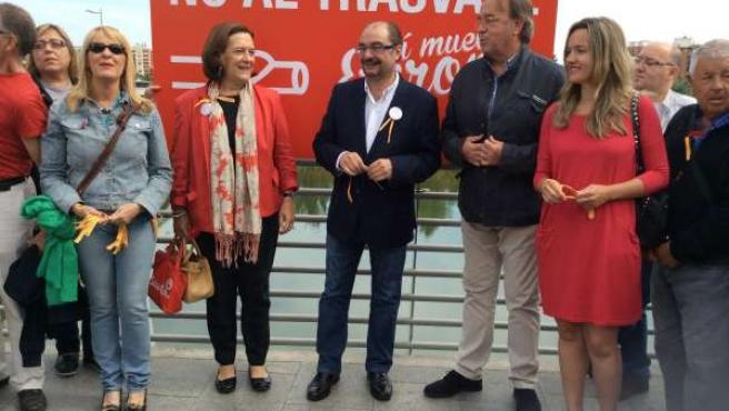 Inés Ayala, Javier Lamban y otros militantes