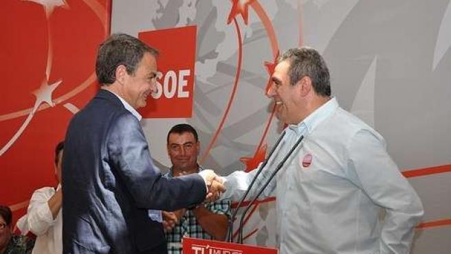 Zapatero saluda a Villarrubia