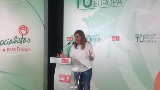 Susana Díaz, en un acto electoral en Granada