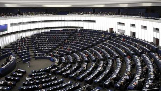 Vista general del hemiciclo del Parlamento Europeo durante una sesión plenaria, en la sede de Estrasburgo