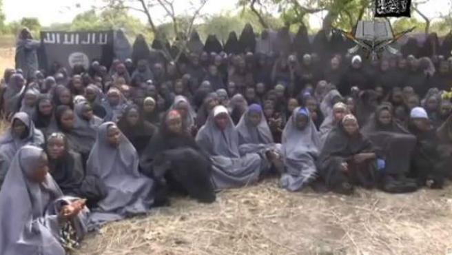 Imagen del vídeo de Boko Haram.