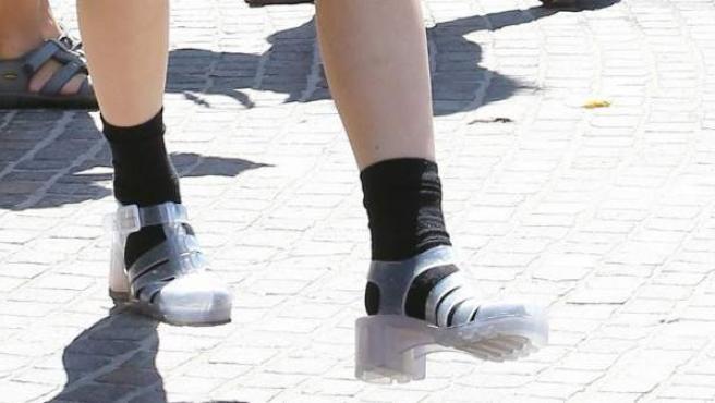 Cangrejeras con calcetines: última moda
