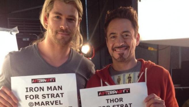 Chris Hemsworth y Robert Downey Jr. muestran su apoyo a la iniciativa #CapforStrat.