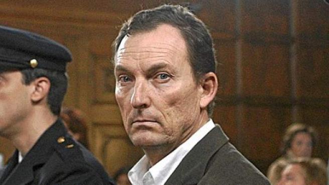 Santiago Mainar, durante una sesión del juicio por el crimen de Fago en la Audiencia de Huesca.