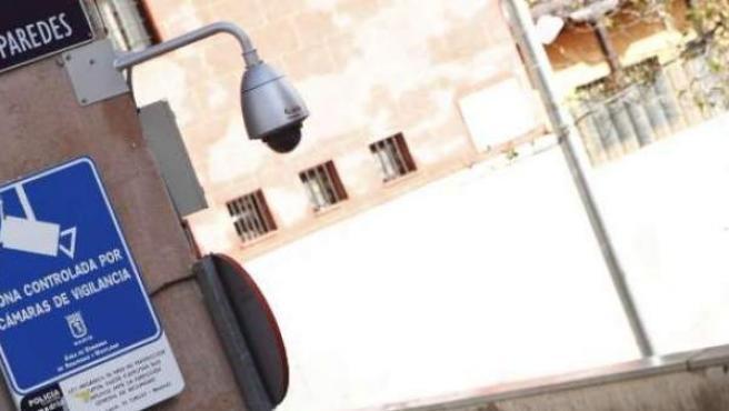 Cámaras de seguridad en la vía pública.