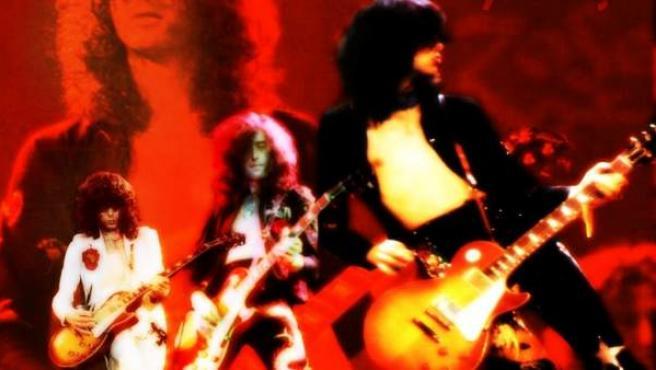 Una imagen de la banda Led Zeppelin realizada en los años 70.