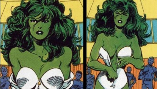 Jennifer Walters, más conocida como Hulka.