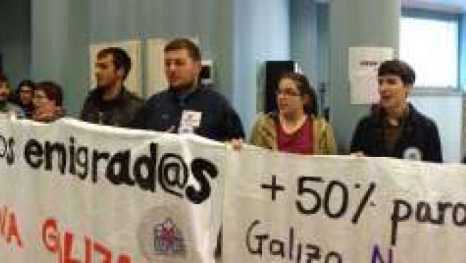 Acto en la oficina de empleo de Santiago de Compostela