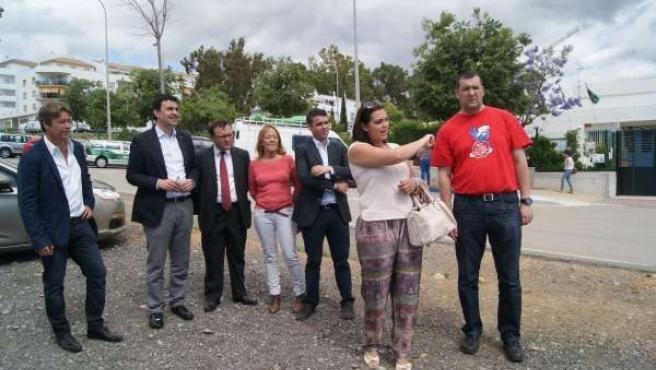Mario Jiménez PSOE-A visita Marbella