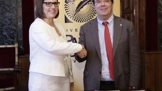 Firma de convenio entre la UPO y Fundación Príncipe de Girona