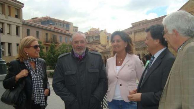 El candidato Díaz de Mera en Segovia.