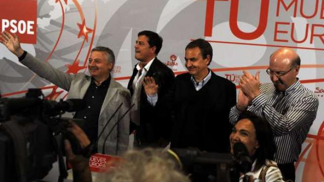Blanco, Besteiro, Zapatero y Agustín Fernández
