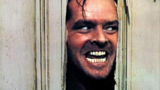 El actor Jack Nicholson en la célebre escena de 'El resplandor'.