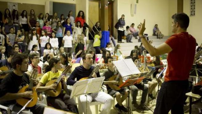 Ensayo del montaje benéfico 'Los Payasos, había un musical'.
