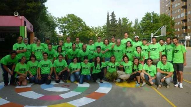 Miembros del colectivo '+EF en Aragón'