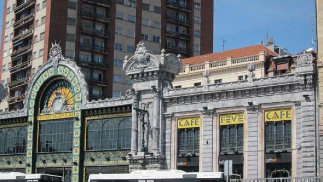 Estación De Abando En Bilbao
