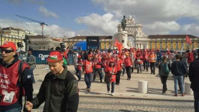 Movilización de los trabajadores de Coca-Cola en Lisboa