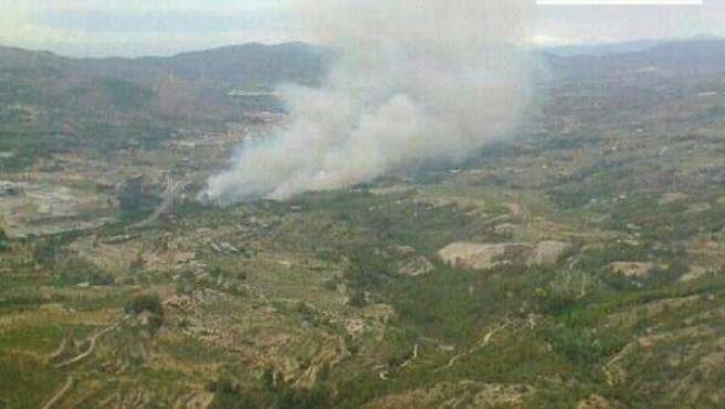 Incendio en Cocentaina