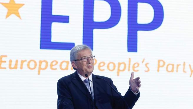 El líder del PPE durante la noche electoral en Bruselas, Bélgica.