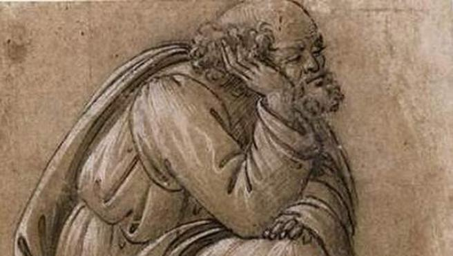 'Estudio para el asiento de San José', de Botticelli.