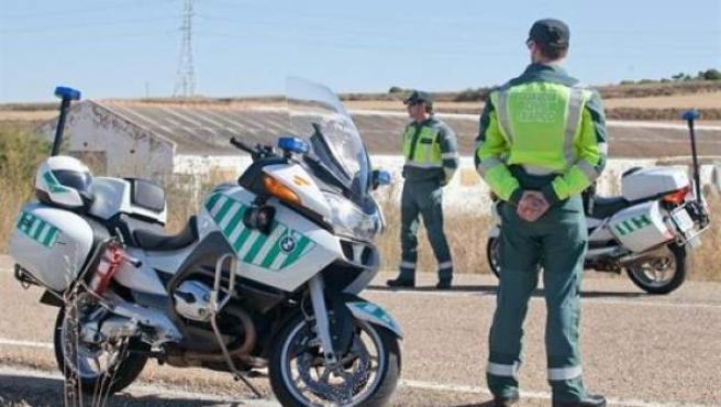 Control de la Guardia Civil en Palencia.