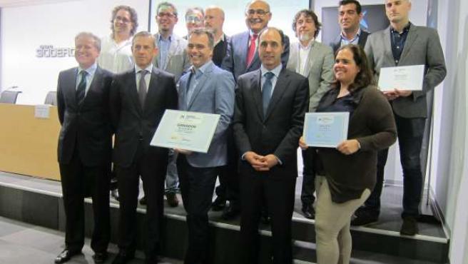 Empresa ganadora y finalistas de los Premios Emprendedor XXI de la Caixa