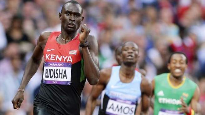 David Rudisha en la final de los 800 metros de los Juegos de Londres.