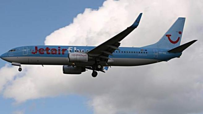 Un avión de la compañía Jetair