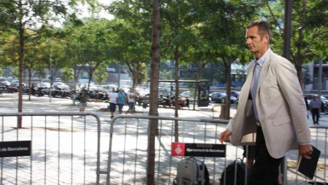 Imagen de archivo de Iñaki Urdangarin en la Ciudad de la Justicia de Barcelona.
