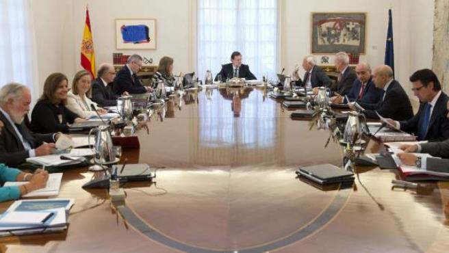 Imagen de una sesión del Consejo de Ministros.