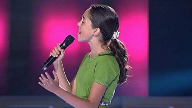 María, ganadora de la primera edición del 'La Voz Kids'.