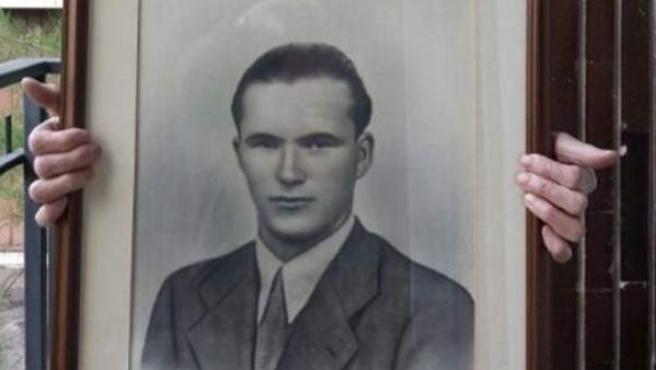 Retrato de Manuel Otero, único español en Normandía.