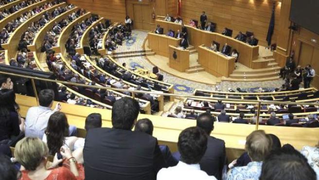 Vista general del Senado en una comparecencia de Rajoy.