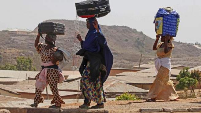 Un grupo de mujeres nigerianas, en una imagen de archivo.