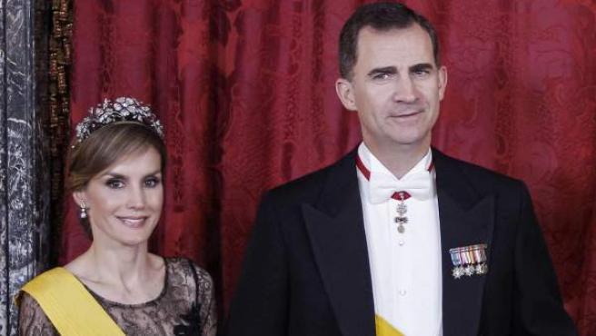 El príncipe Felipe y la princesa Letizia