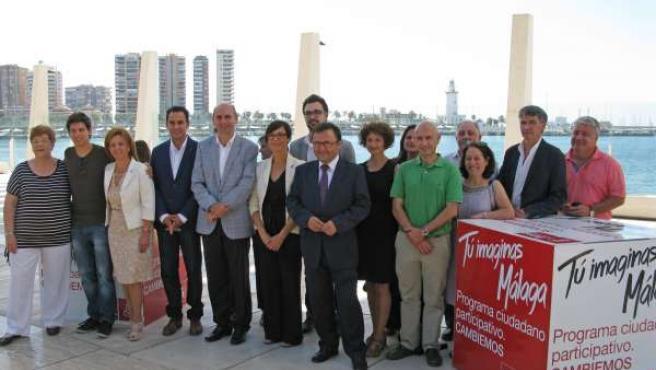 PSOE presenta la campaña tu imaginas málaga conejo heredia gámez y secretarios