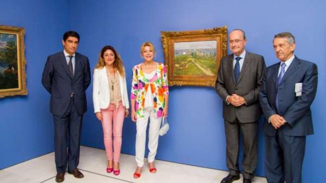 Baronesa Thyssen inaugura la exposición temporal de Darío de Regoyos en Málag