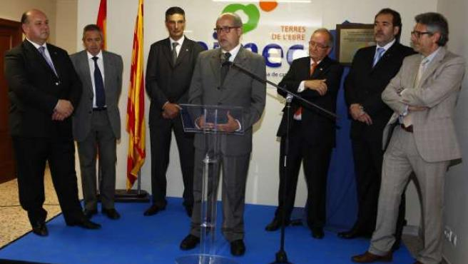 El conseller Felip Puig inaugura la delegación de Pimec en Terres de l'Ebre